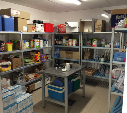 Stockage alimentaire chambre froide cuisine